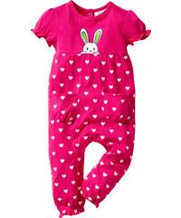 bpc bonprix collection Baby Kurzarm-Overall Bio-Baumwolle in pink von bonprix