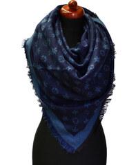 Maxi šála 69pz009-36.30 - tmavě modrá