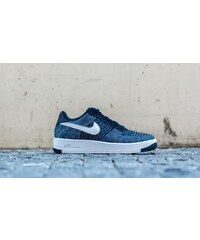 Nike Air Force 1 Ultra Flyknit Low Obsidian/ White-Star Blue-Pure Platinum