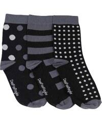 Despasrayés Chaussettes Chaussettes coton pois noirs