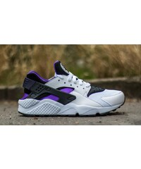 Nike Air Huarache White/ Hyper Grape- Black- Purple Dynasty