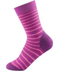 Devold Multi heavy dětské ponožky fuchsia stripe 28 - 30