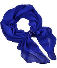 Bijoux Me Šála se sponkou Melodie 299mel001-30 - modrá
