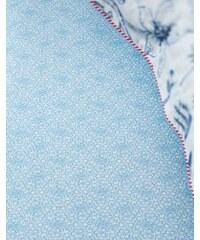 Drap housse imprimé 180x200 cm LACY bleu 100% percale de coton - Collection PIP Studio