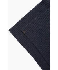 Esprit Écharpe tube côtelée en coton/laine