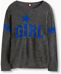 Esprit Pull doux grosse maille motif GIRL intarsia