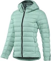 Dámská bunda adidas Ws Light Down Hooded Jacket modrá