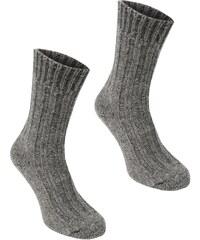 Ponožky Karrimor Wool 2 Pack pán. popelavě šedá