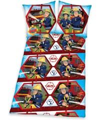 Feuerwehrmann Sam Bettwäsche rot in Größe UNI für Jungen aus 100% Baumwolle