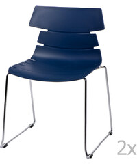Sada 2 modrých židlí D2 Techno