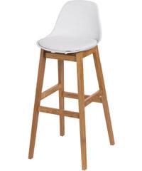 Bílá barová židle D2 Norden Wood