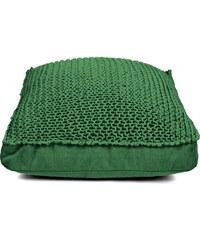 Tmavě zelený sedací puf Nature