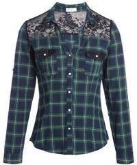 Chemise à carreaux dentelle Vert Coton - Femme Taille 1 - Cache Cache