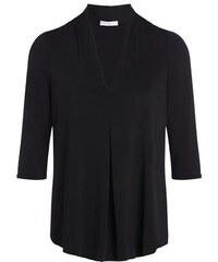 Top uni pli creux Noir Polyester - Femme Taille 0 - Cache Cache