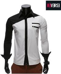 Re-Verse Hemd mit Reißverschlussapplikationen - S