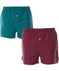 Lacoste Underwear Signature Print - Lot de 2 caleçons imprimés - vert