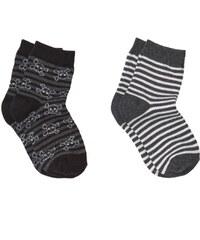 Mango Kids Lot de 2 paires de chaussettes - gris foncé