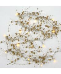 Lesara LED-Lichterkette mit Deko-Perlen - Gold