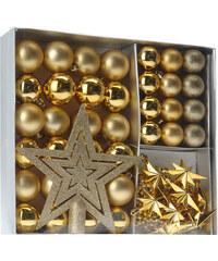 Lesara 45-teiliges Weihnachtsbaum-Deko-Set - Gold