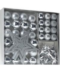 Lesara 45-teiliges Weihnachtsbaum-Deko-Set - Silber