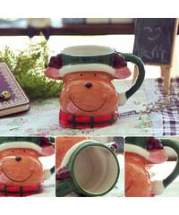 Lesara 3D-Tasse mit Weihnachtsmotiv - Rentier