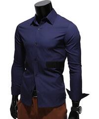 Re-Verse Hemd mit eingenähten Streifen - Dunkelblau - M