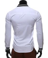 Re-Verse Hemd mit Manschetten- & Kragenstreifen - Weiß - M