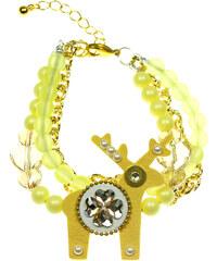 Deers Žlutý náramek Štístko