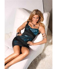Melrose Dress with lace, black-petrol