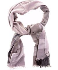 Calvin Klein šálá colorblock lurex wrap gray black metallic