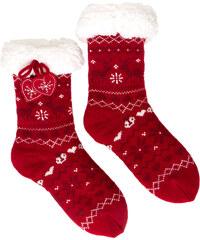 Chaussettes chaussons imprimés de Noël Etam