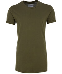 Skint & Minted langes Oversize T-Shirt in Army-Green