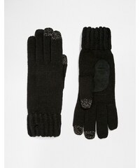 Totes Knitted Gloves With 3 Finger Smartouch - Schwarz