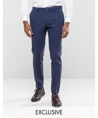 Noak - Schmale Anzughose mit Umschlag - Marineblau