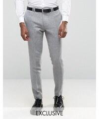 Noak - Schmale Anzughose mit Umschlag - Grau