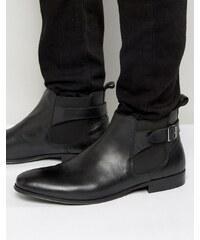 KG Kurt Geiger Kg By Kurt Geiger - Chelsea-Stiefel mit Schnalle aus schwarzem Leder - Schwarz