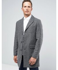 Jack & Jones Premium Overcoat in Herringbone Fleck - Grau
