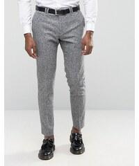 Noak - Enge Anzughose aus meliertem Donegal-Tweed - Grau