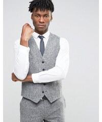 Noak - Enge Anzugweste aus meliertem Donegal-Tweed - Grau