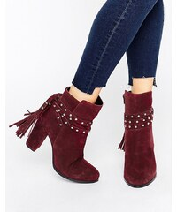 Faith - Bethany - Ankle-Boots mit Absatz und Bindeband - Rot