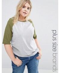Alice & You - Jersey-T-Shirt mit Raglanärmeln - Mehrfarbig