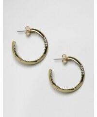House Of Harlow - Goldene Ohrringe mit weißen Strasssteinchen - Gold