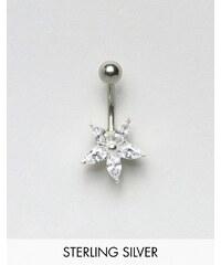 Kingsley Ryan - Bauchnabelschmuck aus Sterlingsilber mit Blumendesign - Silber