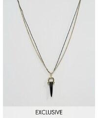 DesignB London DesignB - Lonndon - Doppelte Halskette mit Anhänger - Gold