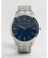 Armani Exchange - AX2166 - Silberfarbene Armbanduhr mit blauem Zifferblatt - Silber