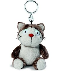 NICI - Klíčenka kočka Lazy šedá 10cm, plyš(39018)