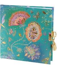 TURNOWSKY - Čtvercový deník se zámečkem, Silver Moon green, 16,5x16,5 cm, 96 listů, bílý papír (4428