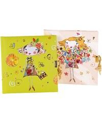 TURNOWSKY - Čtvercový deník se zámečkem, Tangerine assorted, 16,5x16,5 cm, 96 listů, bílý papír (445