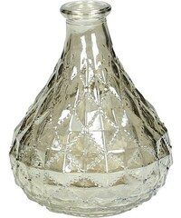 KERSTEN - Váza skleněná, zlatá 9x9x13cm(LEV-8957)