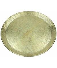KERSTEN - Talíř hliníkový, zlatý 48x48x2,5cm(LEV-8761)